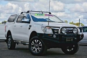2012 Ford Ranger PX XLT Double Cab White 6 Speed Manual Utility Yeerongpilly Brisbane South West Preview