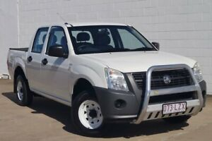 2007 Holden Rodeo RA MY08 DX Crew Cab 4x2 White 5 Speed Manual Utility