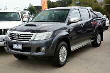 2013 Toyota Hilux KUN26R MY12 SR5 Double Cab Grey 4 Speed Automatic Utility Mornington Mornington Peninsula Preview