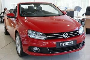 2011 Volkswagen EOS 1F MY11 155TSI DSG Red 6 Speed Sports Automatic Dual Clutch Convertible