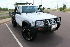 2005 Nissan Patrol GU II DX White 5 Speed Manual 4x4 Cab Chassis Driver Palmerston Area Preview