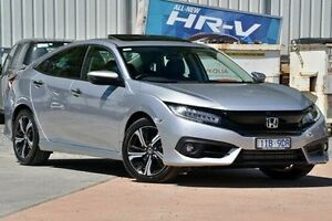 2016 Honda Civic 10th Gen MY16 RS Silver 1 Speed Constant Variable Sedan Ferntree Gully Knox Area Preview