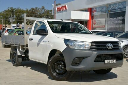 2015 Toyota Hilux GUN122R Workmate White 5 Speed Manual Cab Chassis Wyoming Gosford Area Preview