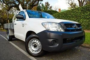 2010 Toyota Hilux TGN16R MY10 Workmate White 4 Speed Automatic Cab Chassis Medindie Walkerville Area Preview