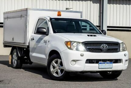 2007 Toyota Hilux KUN16R 06 Upgrade SR White 5 Speed Manual Dual Cab Pick-up Cannington Canning Area Preview