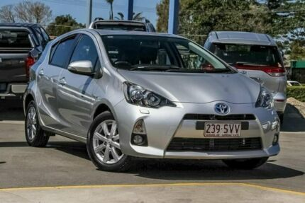 2012 Toyota Prius c NHP10R i-Tech E-CVT Silver 1 Speed Constant Variable Hatchback Hybrid Aspley Brisbane North East Preview