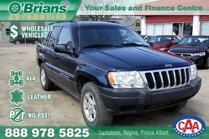 2003 Jeep Grand Cherokee Laredo - Wholesale Unit, No PST!