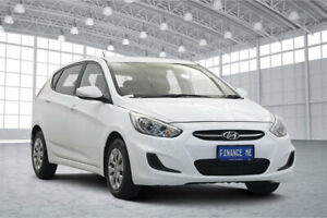 2017 Hyundai Accent RB4 MY17 Active White 6 Speed Constant Variable Hatchback Victoria Park Victoria Park Area Preview
