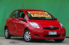 2009 Toyota Yaris NCP90R MY09 YR Red 5 Speed Manual Hatchback Ringwood East Maroondah Area Preview