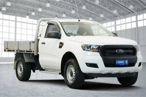 2016 Ford Ranger PX MkII XL 4x2 Hi-Rider Cool White 6 Speed Sports Automatic Cab Chassis