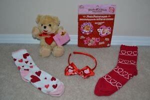 VALENTINE'S DAY Bear, Craft, Hairband & Gymboree Hearts Socks