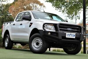 2013 Ford Ranger PX XL Double Cab 4x2 Hi-Rider White 6 Speed Sports Automatic Utility Berwick Casey Area Preview