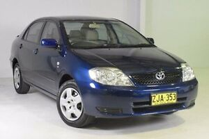 2004 Toyota Corolla ZZE122R Ascent Blue 5 Speed Manual Sedan Wadalba Wyong Area Preview