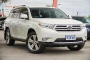2013 Toyota Kluger GSU40R MY12 KX-S 2WD Crystal Pearl 5 Speed Sports Automatic Wagon Glendalough Stirling Area Preview