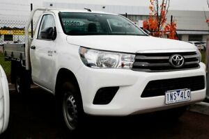 2018 Toyota Hilux GUN126R SR White 6 Speed Manual Cab Chassis Mill Park Whittlesea Area Preview