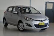 2014 Hyundai i20 PB MY14 Active Sleek Silver 4 Speed Automatic Hatchback Tweed Heads South Tweed Heads Area Preview