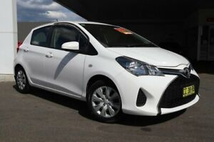 2015 Toyota Yaris NCP130R MY15 Ascent Glacier White 4 Speed Automatic Hatchback Belmore Canterbury Area Preview