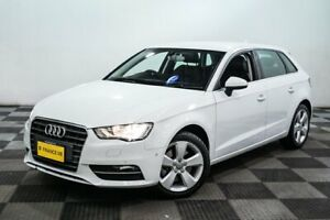 2014 Audi A3 8V Ambition Sportback S Tronic White 7 Speed Sports Automatic Dual Clutch Hatchback Edgewater Joondalup Area Preview