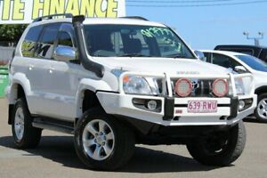 2007 Toyota Landcruiser Prado GRJ120R GXL White 5 Speed Automatic Wagon Moorooka Brisbane South West Preview