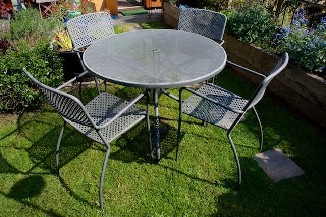 powder coated steel garden furniture set 125 - Garden Furniture Edinburgh