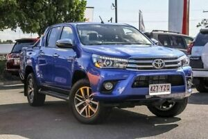 2017 Toyota Hilux GUN126R SR5 Double Cab Blue 6 Speed Sports Automatic Utility Noosaville Noosa Area Preview