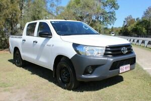 2016 Toyota Hilux TGN121R Workmate Double Cab 4x2 White 6 Speed Sports Automatic Utility Ormeau Gold Coast North Preview