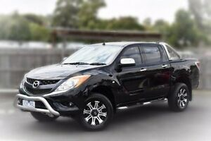 2015 Mazda BT-50 UP0YF1 GT Black 6 Speed Sports Automatic Utility Berwick Casey Area Preview