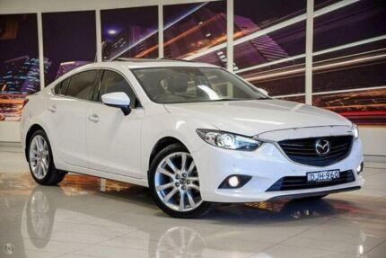 2013 Mazda 6 GJ1031 Atenza SKYACTIV-Drive White 6 Speed Sports Automatic Sedan