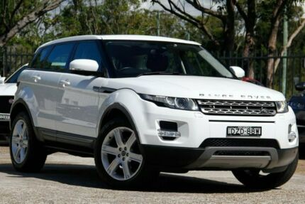 2013 Land Rover Range Rover Evoque L538 MY13.5 TD4 CommandShift Pure Tech White 6 Speed Gateshead Lake Macquarie Area Preview