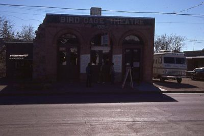 FRONT OF THE BIRD CAGE THEATRE TOMBSTONE ARIZONA 1974 35mm PHOTO SLIDE