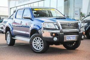2014 Toyota Hilux KUN26R MY14 SR5 Double Cab Tidal Blue 5 Speed Manual Utility