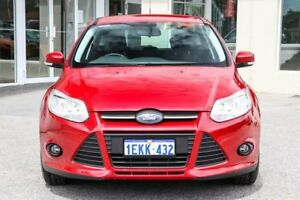 2014 Ford Focus LW MKII Trend PwrShift Red 6 Speed Sports Automatic Dual Clutch Hatchback
