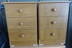 2 bedside tables with 3 drawers Waverton North Sydney Area Preview