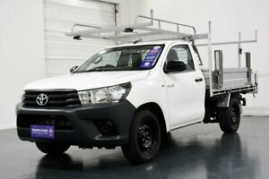 2017 Toyota Hilux TGN121R Workmate Glacier White 6 Speed Automatic Cab Chassis Oakleigh Monash Area Preview
