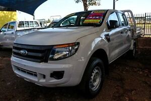2012 Ford Ranger PX XL Double Cab White 6 Speed Sports Automatic Utility Minchinbury Blacktown Area Preview