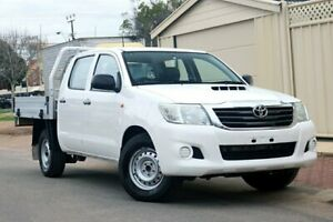 2012 Toyota Hilux KUN16R MY12 SR Double Cab 4x2 White 5 Speed Manual Utility Glenelg Holdfast Bay Preview