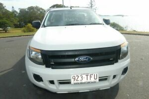 2013 Ford Ranger PX XL 4x2 White 6 Speed Manual Cab Chassis South Gladstone Gladstone City Preview