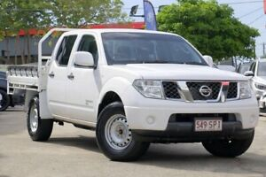 2012 Nissan Navara D40 S6 MY12 RX White 5 Speed Automatic Cab Chassis