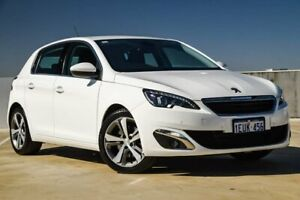 2014 Peugeot 308 T9 Allure White 6 Speed Sports Automatic Hatchback Osborne Park Stirling Area Preview