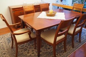REDUCED- Solid Rosewood Extendable Table, Sideboard and 6 Chairs
