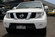 2012 Nissan Navara D40 S7 MY12 RX Polar White 5 Speed Automatic Utility Slacks Creek Logan Area Preview