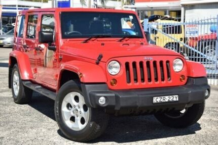 2013 Jeep Wrangler JK MY2014 Unlimited Red Automatic Hardtop Gosford Gosford Area Preview