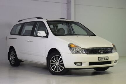 2011 Kia Grand Carnival VQ MY12 SLi White 6 Speed Sports Automatic Wagon Wadalba Wyong Area Preview