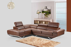 Brand new-Real leather with speaker $1499.99- sectional sofa