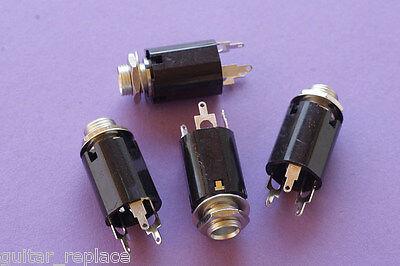 Hembra Jack Mono 1/4 Socket Guitarra Eléctrica Acústica Bajo Amplificador