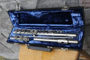 Flute Rene Duval B andH 3 piece plus case cleaning rod in excell