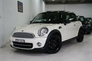 2013 Mini Hatch R56 LCI Cooper Steptronic Baker Street White 6 Speed Sports Automatic Hatchback Castle Hill The Hills District Preview