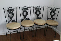 A pair of ORNATE MATCHING HAUSER BISTRO CHAIRS