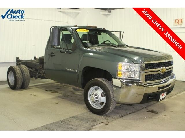 Chevrolet : Silverado 3500 Work Truck Used 2009 Chevy C3500 Low Miles Cab and Chassis Ready for Work $$ave Dually 4x2