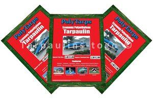 ECONOMY TARPAULIN TARP, LIGHTWEIGHT WATERPROOF COVER CAMPING GROUND SHEET, COVER